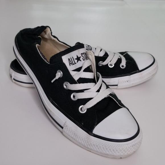 2ca2e4461b8eeb Converse Shoes - Women s 9 black slip on Converse no tie